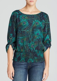 MICHAEL Michael Kors Sloane Feather Print Top