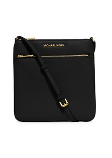 MICHAEL MICHAEL KORS Small Flat Leather Crossbody Bag