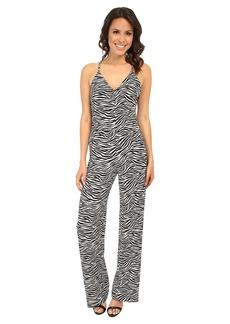MICHAEL Michael Kors Small Zebra Wide Leg Jumpsuit