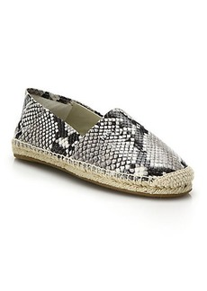 MICHAEL MICHAEL KORS Snake-Embossed Leather Espadrilles