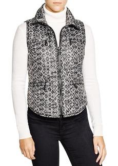 MICHAEL Michael Kors Snake Print Puffer Vest