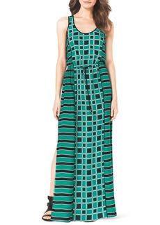 MICHAEL Michael Kors Soho Square Printed Maxi Dress