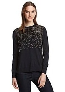 MICHAEL Michael Kors® Solid Studded Yoke Sweater