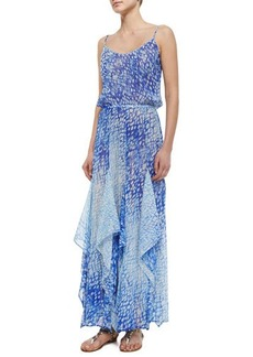 MICHAEL Michael Kors Sorrento Printed Flutter Dress