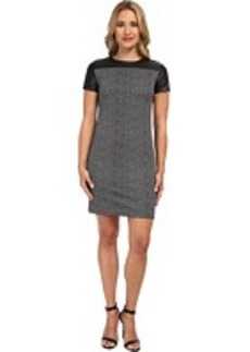 MICHAEL Michael Kors S/S Leather Ponte CBO Dress
