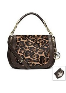 MICHAEL Michael Kors® Stanthorpe Leopard Hair Calf Medium Shoulder Bag