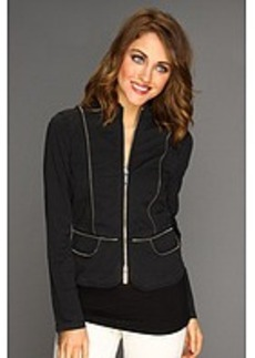 MICHAEL Michael Kors Stretch Twill L/S Fitted Zip Jacket