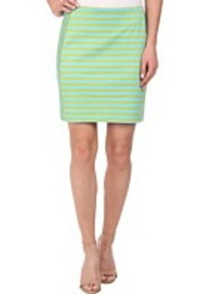 MICHAEL Michael Kors Stripe Ponte Zip Skirt