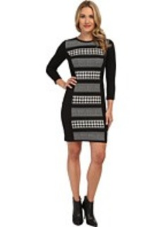 MICHAEL Michael Kors Stripe Printed L/S Ponte Dress