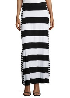 MICHAEL Michael Kors Striped A-Line Maxi Skirt