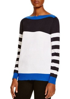 MICHAEL Michael Kors Striped Color Block Sweater