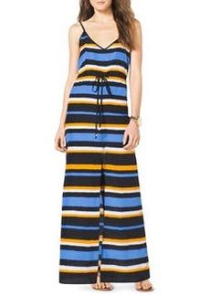 MICHAEL Michael Kors Striped Front-Slit Maxi Dress