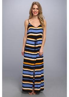 MICHAEL Michael Kors Striped Front Slit Maxi Dress