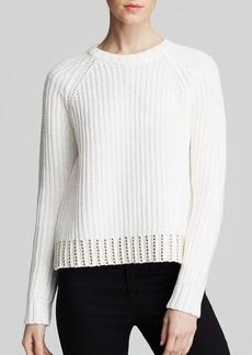 MICHAEL Michael Kors Stud Hem Crewneck Sweater