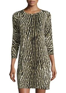 MICHAEL Michael Kors Studded Animal-Print Dress