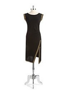 MICHAEL MICHAEL KORS Studded Asymmetrical Dress