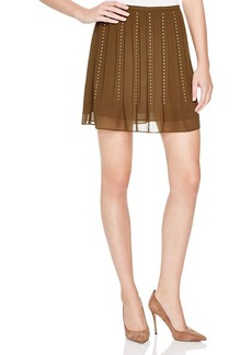 MICHAEL Michael Kors Studded Chiffon Pleat Skirt