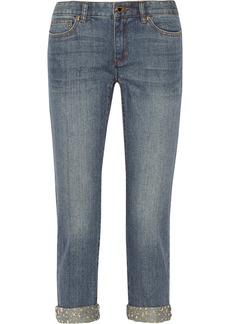 MICHAEL Michael Kors Studded denim boyfriend jeans