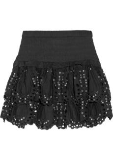 MICHAEL Michael Kors Studded eyelet mini skirt