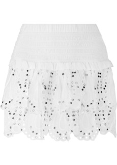 MICHAEL Michael Kors Studded eyelet mini skirt