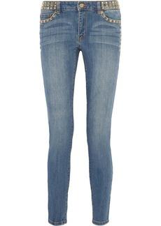 MICHAEL Michael Kors Studded mid-rise straight-leg jeans