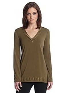 MICHAEL Michael Kors® Studded V-Neck Top