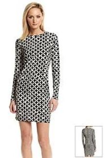 MICHAEL Michael Kors® Stylized Geometric Patterned Dress