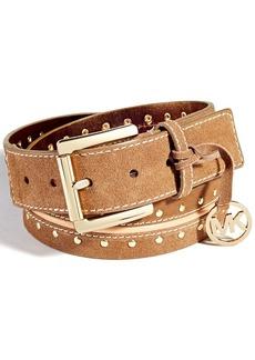 MICHAEL Michael Kors Suede Astor Studded Belt