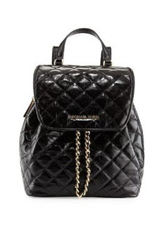 MICHAEL Michael Kors Susannah Medium Quilted Backpack, Black