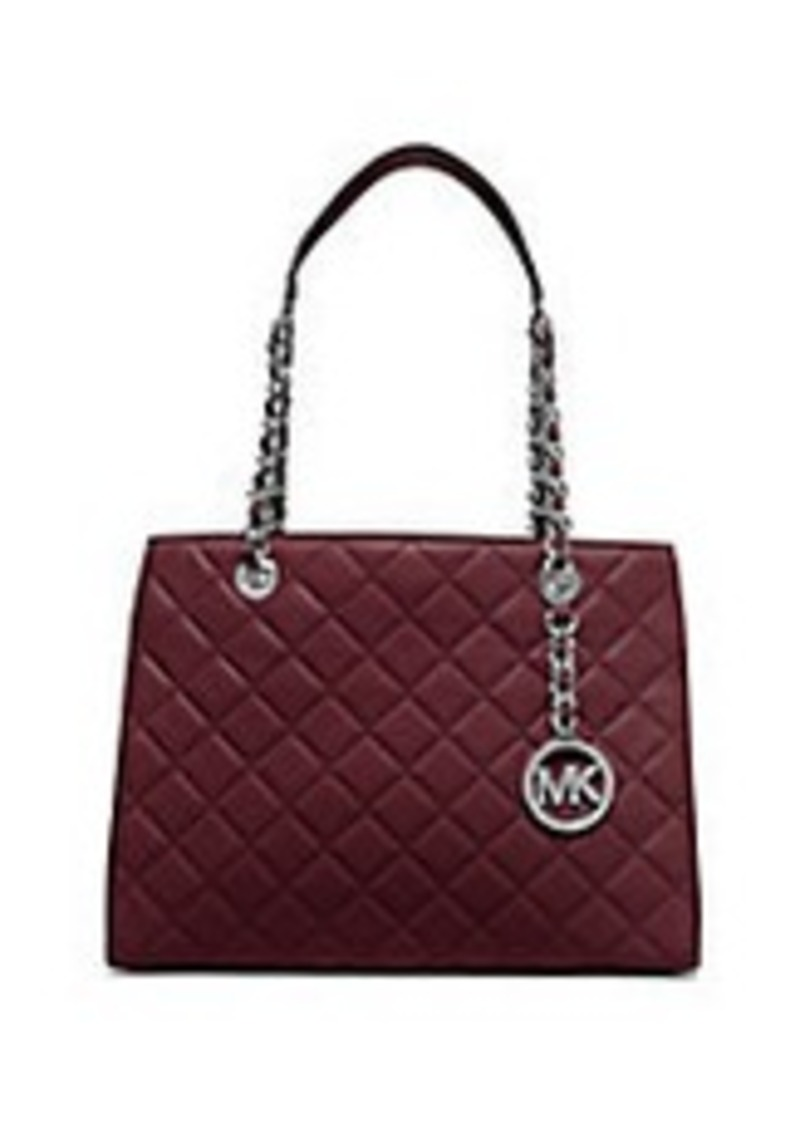 michael michael kors michael michael kors susannah quilted leather tote handbags shop it to me. Black Bedroom Furniture Sets. Home Design Ideas