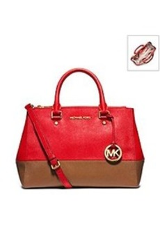MICHAEL Michael Kors® Sutton Bicolor Saffiano Leather Medium Satchel