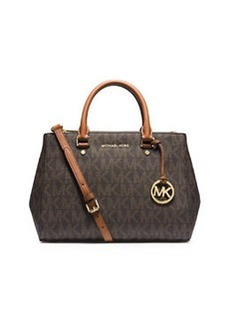 MICHAEL Michael Kors Sutton Medium Logo Satchel Bag, Brown
