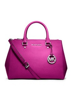 MICHAEL Michael Kors Sutton Medium Saffiano Satchel Bag, Fuchsia