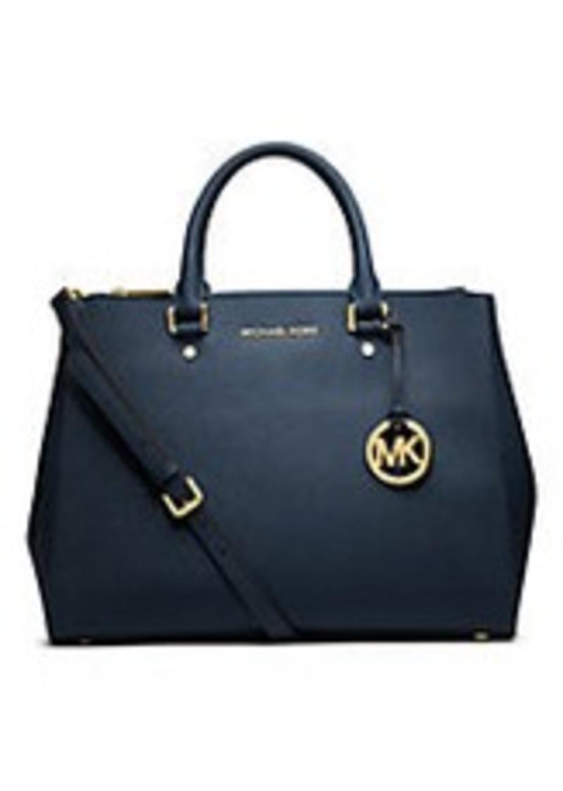 michael michael kors michael michael kors sutton saffiano leather large satchel sizes all sizes. Black Bedroom Furniture Sets. Home Design Ideas