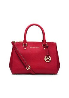MICHAEL Michael Kors Sutton Small Saffiano Satchel Bag, Chili