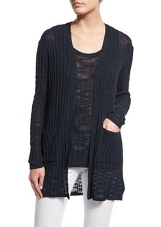 MICHAEL Michael Kors Textured Ribbed Long Cardigan  Textured Ribbed Long Cardigan
