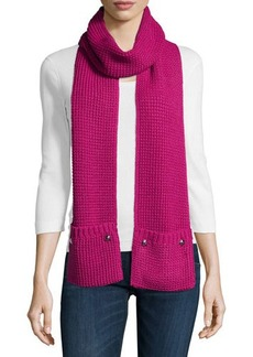 MICHAEL Michael Kors Thermal Scarf with Pockets