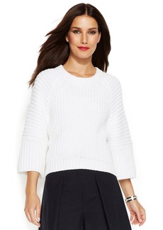MICHAEL Michael Kors Three-Quarter-Sleeve Cropped Sweater