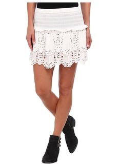 MICHAEL Michael Kors Tiered Eyelet Mini Skirt