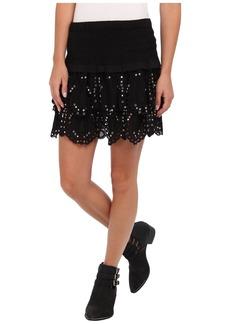 MICHAEL Michael Kors Tiered Eyelet Mini Skirt