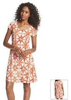MICHAEL Michael Kors® Tile Print Flare Dress