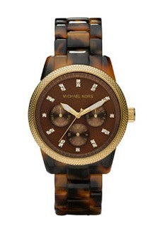 MICHAEL Michael Kors Tortoise Jet Set Watch