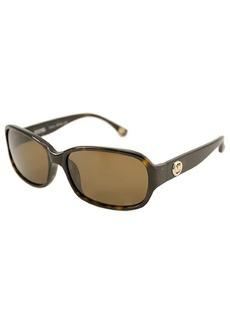 MICHAEL Michael Kors Tortoise rectangular plastic Connie sunglasses