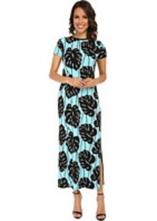 MICHAEL Michael Kors Tropical Bay Leaf Maxi Dress