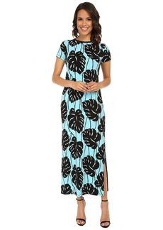 MICHAEL Michael Kors Tropical Bay Leaf Maxi Dress