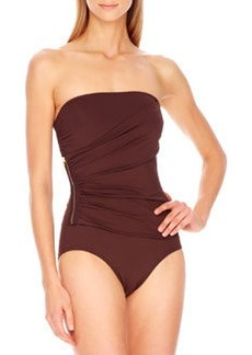 MICHAEL Michael Kors Tunisia Strapless Side-Zip Maillot