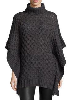 MICHAEL Michael Kors Turtleneck Textured Poncho Sweater  Turtleneck Textured Poncho Sweater