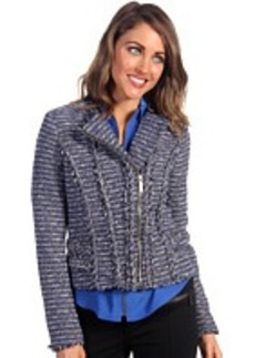 MICHAEL Michael Kors Tweed Moto Chain Trim Jacket