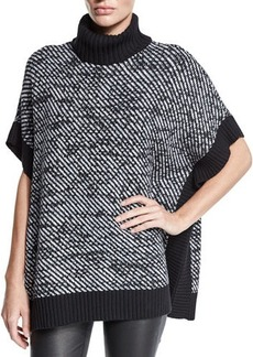MICHAEL Michael Kors Twill-Stitch Turtleneck Poncho  Twill-Stitch Turtleneck Poncho