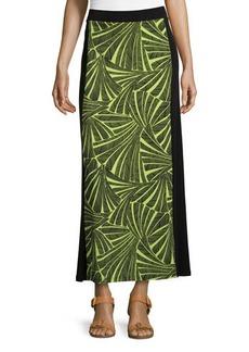 MICHAEL Michael Kors Two-Tone Printed Maxi Skirt